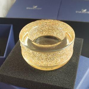 Gold Swarovski Shimmer Tea Light Holder Crystal